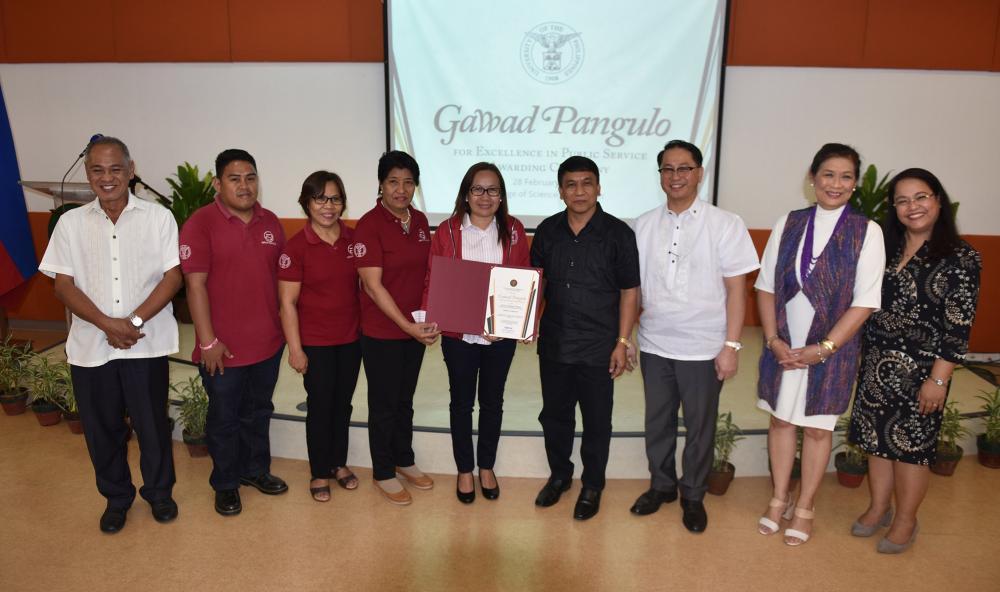 UPV Sentro ng Wikang Filipino, awardee sa 3rd Gawad Pangulo: Excellence in Public Service