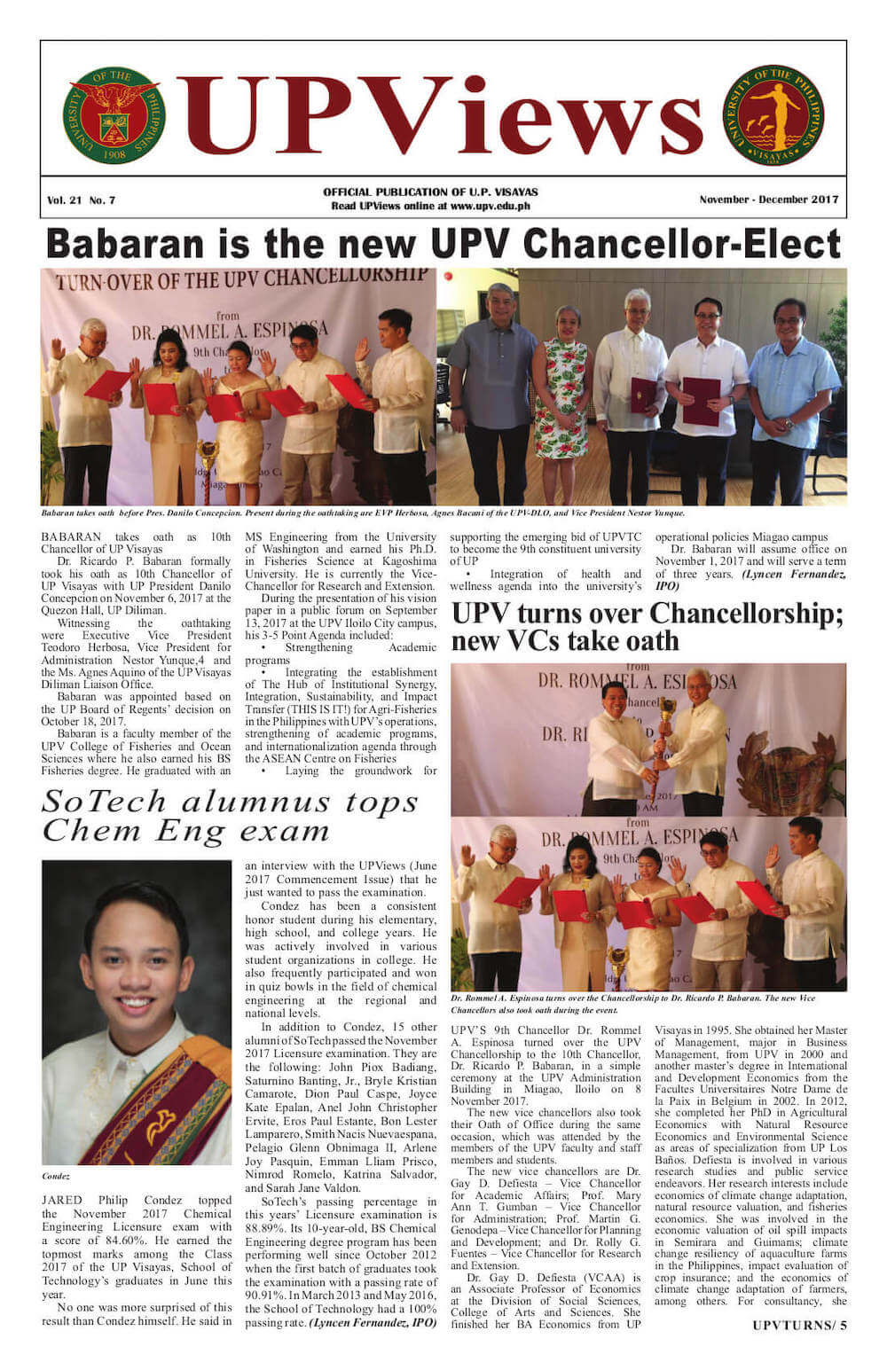 Sixth Bimonthly Issue