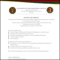 Faculty - Division of Professional Education (Math)